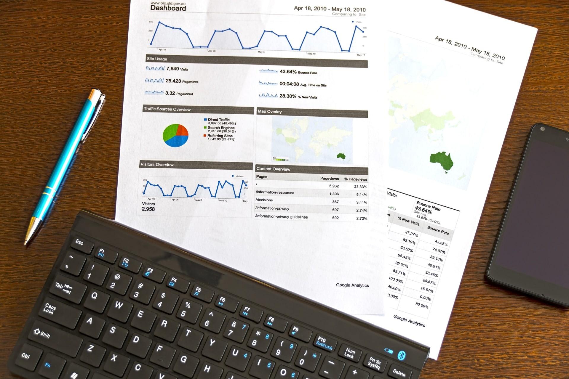 Feuilles de statitistiques google analytics