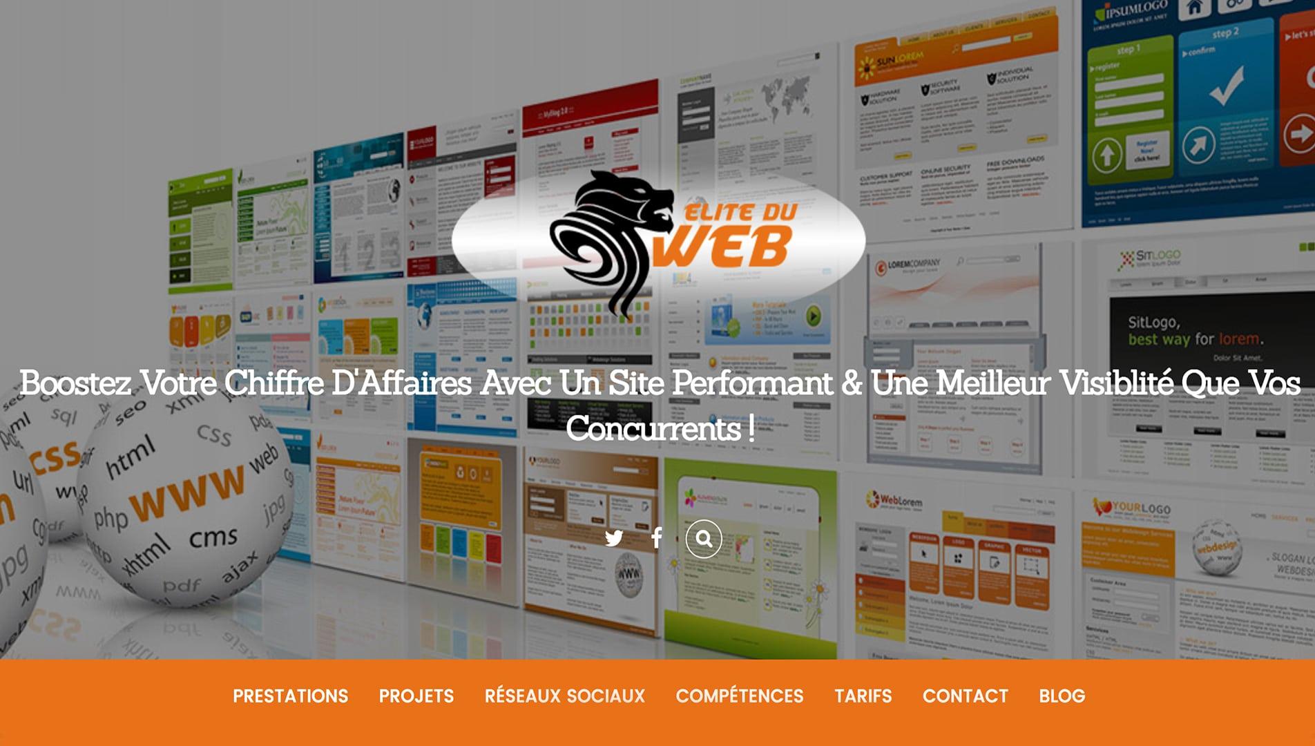 Capture écran site freelance élite du web